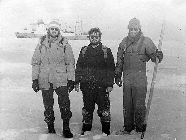 Участники советско-американской экспедиции. Бристольский залив