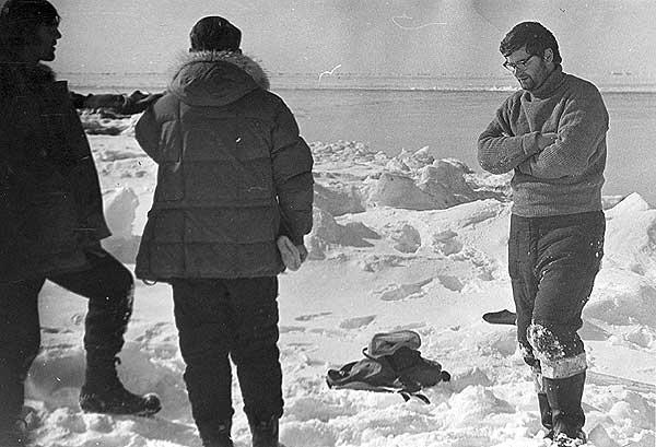 Участники советско-американской экспедиции. Берингово море