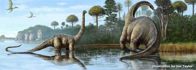 Титанозавры. Рисунок Jon Taylor