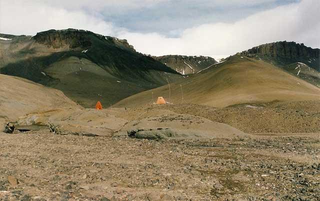 Лагерь палеонтологов на острове Джеймса Росса. Фото FRobles