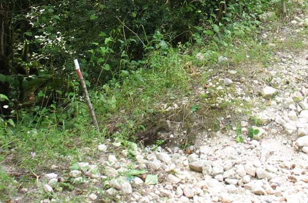Такими столбиками деминёры отмечают минные поля, которые сохранились со времен последней войны.